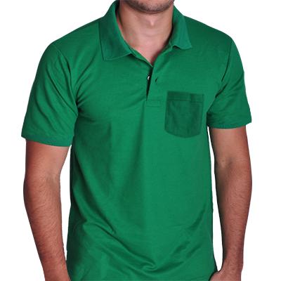 Camisa Polo Com Bolso Piquet