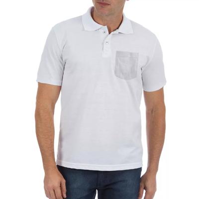 Camisa Polo Com Bolso Poliéster Sublimático