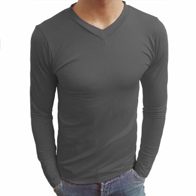 Camiseta Manga Longa Gola V Poliéster Sublimático