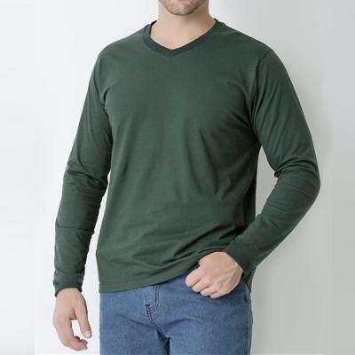 Camiseta Manga Longa Gola V PV