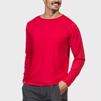 Camiseta Manga Longa Gola Viés Algodão Premium