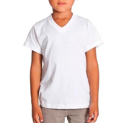 Camiseta Tradicional Gola V Algodão Classic